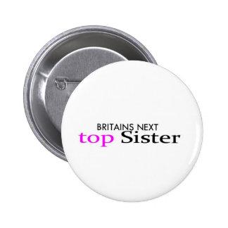 top sister 6 cm round badge
