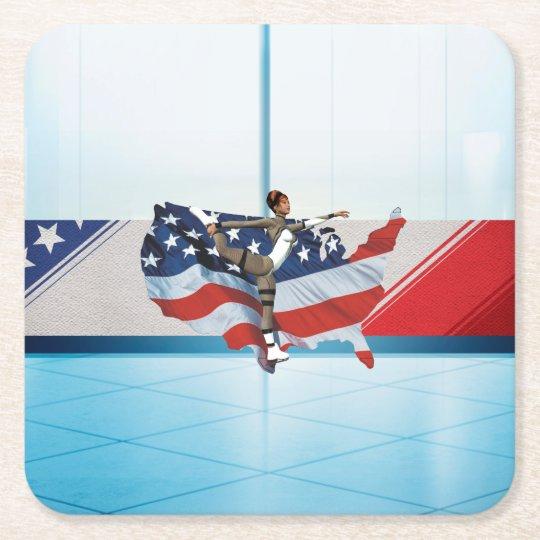 TOP Skate USA Square Paper Coaster