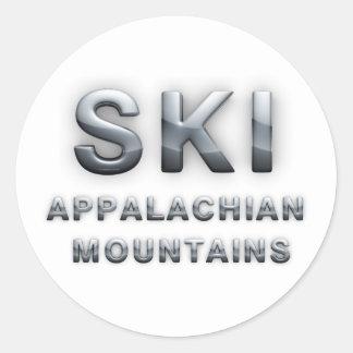 TOP Ski Appalachian Classic Round Sticker