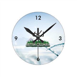 TOP Ski BC Round Clock