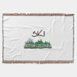 TOP Ski BC Throw Blanket