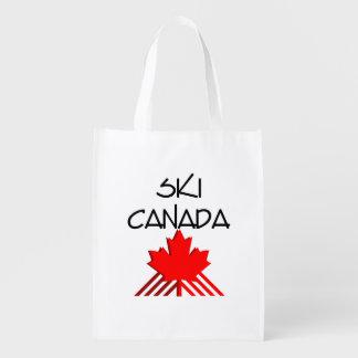 TOP Ski Canada Reusable Grocery Bag