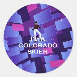 TOP Ski Colorado Round Sticker