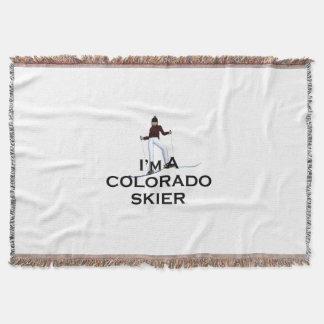 TOP Ski Colorado Throw Blanket