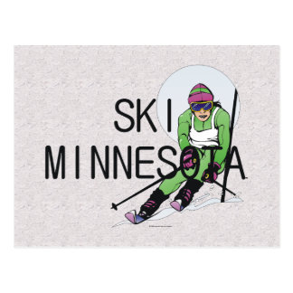 TOP Ski Minnesota Postcard