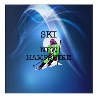 TOP Ski New Hampshire Acrylic Wall Art