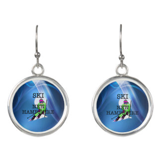 TOP Ski New Hampshire Earrings