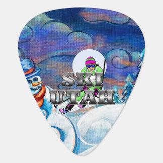 TOP Ski Utah Guitar Pick