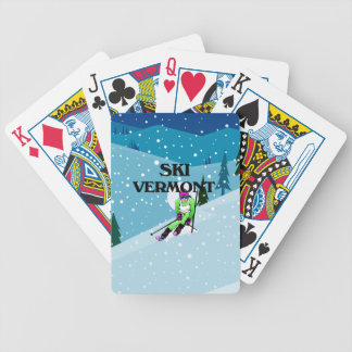 TOP Ski Vermont Bicycle Playing Cards