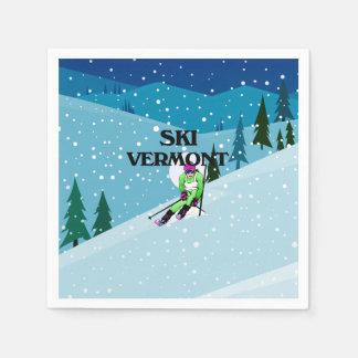 TOP Ski Vermont Paper Serviettes