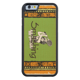 TOP Smashing Tennis Carved Maple iPhone 6 Bumper Case