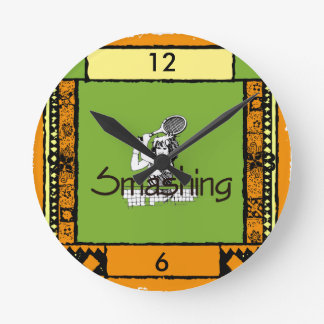 TOP Smashing Tennis Round Clock