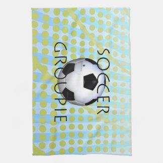 TOP Soccer Groupie Tea Towel