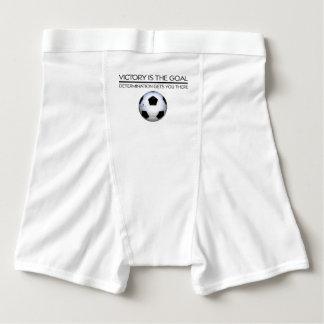 TOP Soccer Victory Slogan Boxer Briefs