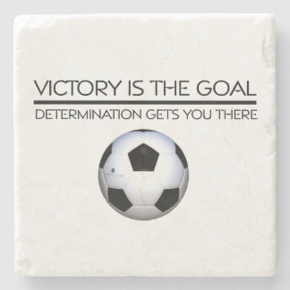 TOP Soccer Victory Slogan Stone Coaster