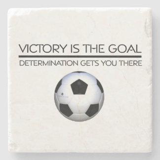 TOP Soccer Victory Slogan Stone Coaster