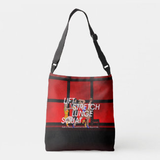 TOP Squat Slogan Crossbody Bag