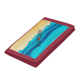 TOP Surf Dude Trifold Wallets