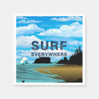 TOP Surf Everywhere Paper Napkin