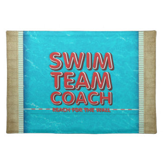 TOP Swim Coach Placemat
