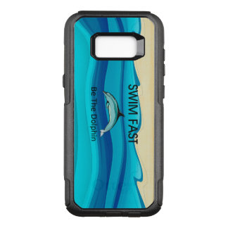 TOP Swim Dolphin Fast OtterBox Commuter Samsung Galaxy S8+ Case