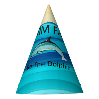 TOP Swim Dolphin Fast Party Hat
