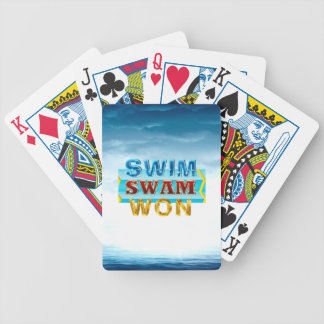 TOP Swim Swam Won Bicycle Playing Cards