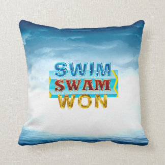 TOP Swim Swam Won Cushion