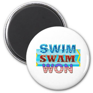 TOP Swim Swam Won Magnet