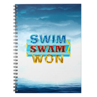 TOP Swim Swam Won Notebooks