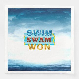 TOP Swim Swam Won Paper Napkins
