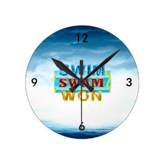 TOP Swim Swam Won Round Clock