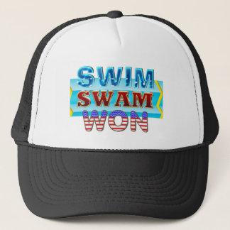 TOP Swim Swam Won Trucker Hat