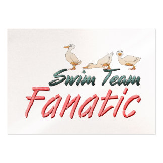 TOP Swim Team Fanatic Business Cards