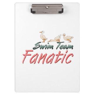TOP Swim Team Fanatic Clipboard