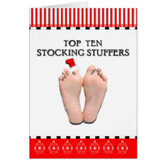 Top Ten Stocking Stuffers Card
