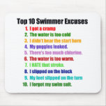 Top Ten Swimmers Excuses Mouse Mats