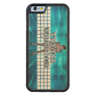TOP Tennis Warrior Carved Maple iPhone 6 Bumper Case
