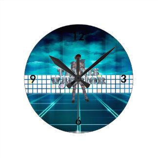 TOP Tennis Warrior Round Clock