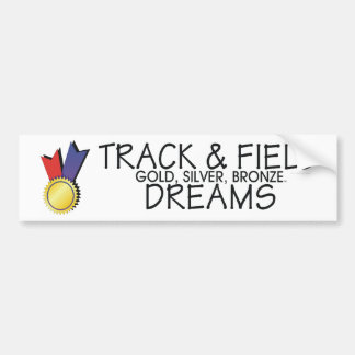 TOP Track Dreams Bumper Sticker