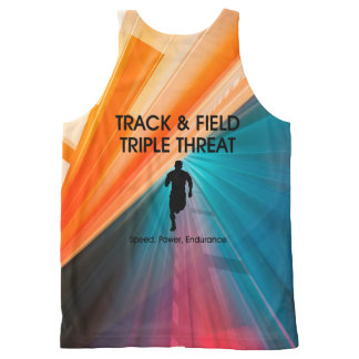 TOP Track Triple Threat All-Over Print Tank Top
