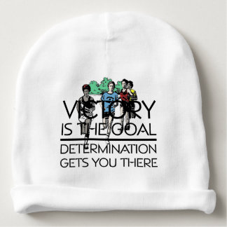 TOP Track Victory Slogan Baby Beanie