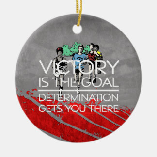 TOP Track Victory Slogan Ceramic Ornament