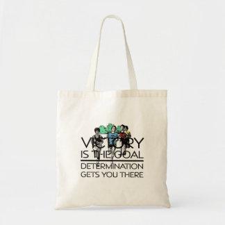 TOP Track Victory Slogan Tote Bag