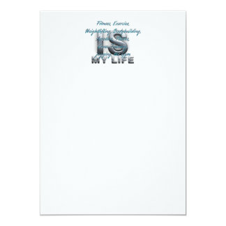 TOP Training is My Life 13 Cm X 18 Cm Invitation Card