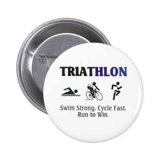 TOP Triathlon 6 Cm Round Badge