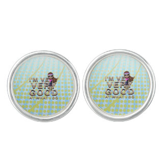 TOP Very Good at What I Do, Tennis Cufflinks