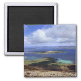 Top view: burra sound, graemsay & orkney mainland fridge magnets