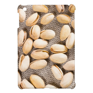 Top view of a group of salty pistachios iPad mini cover