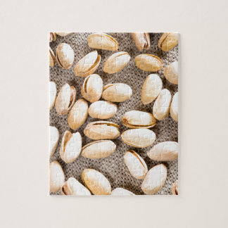 Top view of a group of salty pistachios jigsaw puzzle